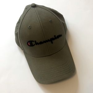 Champion Hat with Leather Adjust Back